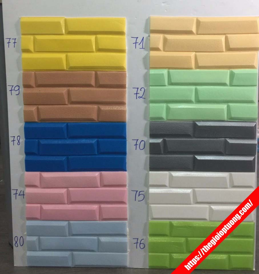 Xốp dán tường 3D giả gạch cao cấp - Giá sỉ tại kho (mẫu mới nhất)