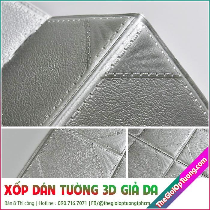 Xốp Dán Tường 3D Giả Da - Tấm xốp dán tường đẹp sang trọng
