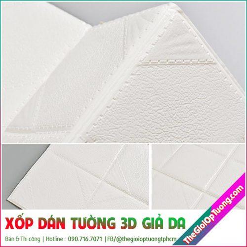 Xốp Dán Tường 3D Giả Da - Tấm xốp dán tường đẹp sang trọngXốp Dán Tường 3D Giả Da - Tấm xốp dán tường đẹp sang trọng