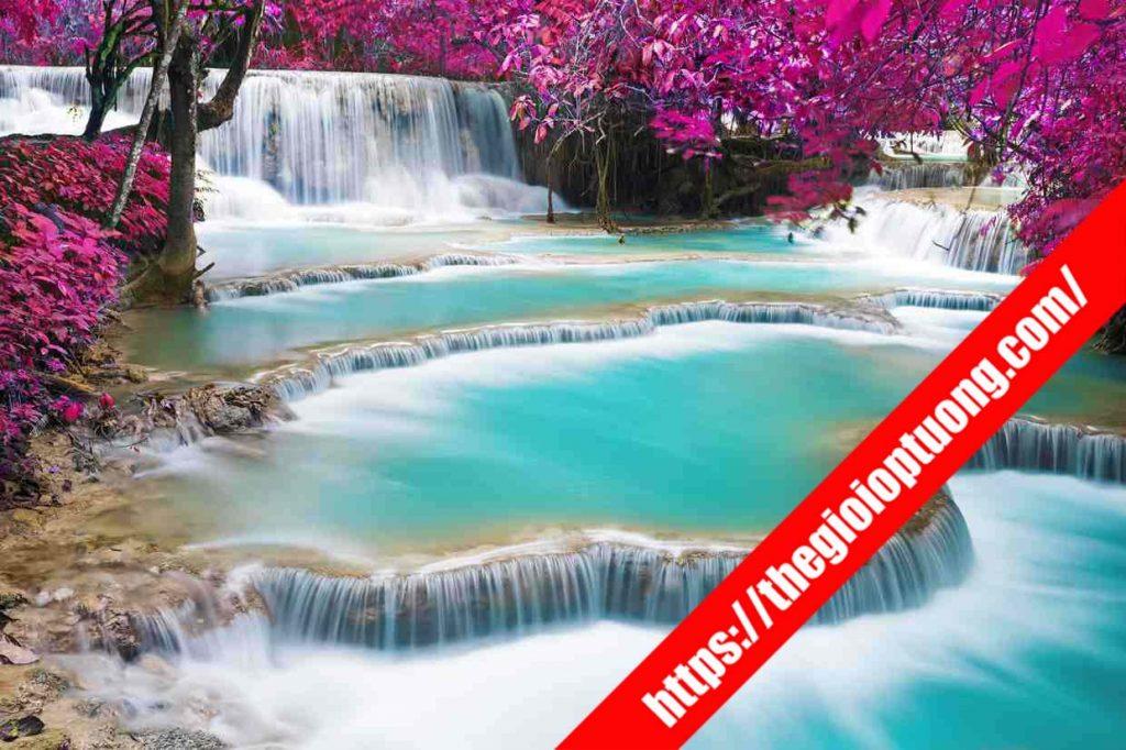 TRANH TƯỜNG PHONG CẢNH 3D MÃ SN0177 . Tranh dán tường phong cảnh - Tranh tường 3D đẹp