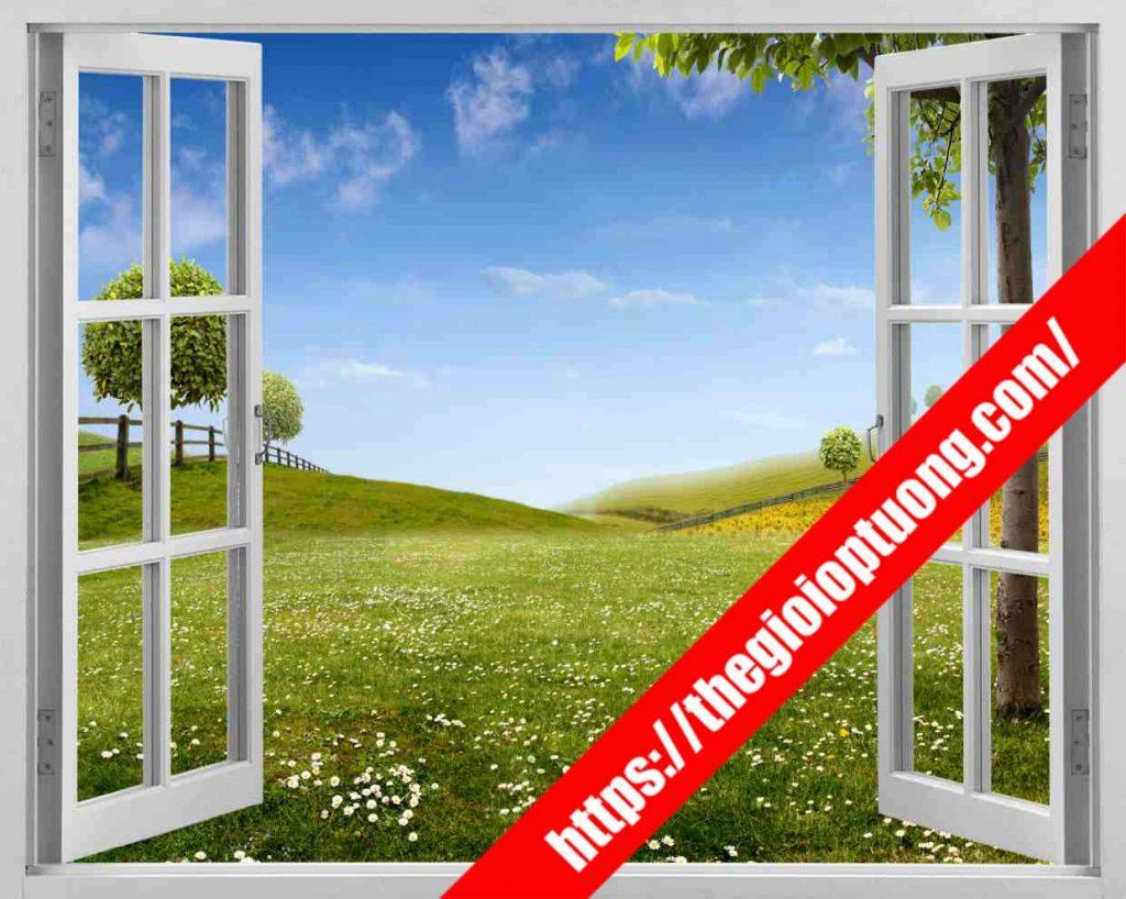 TRANH TƯỜNG CỬA SỔ MÃ WN0065 . Tranh dán tường cửa sổ - Tranh tường 3D độc đáo