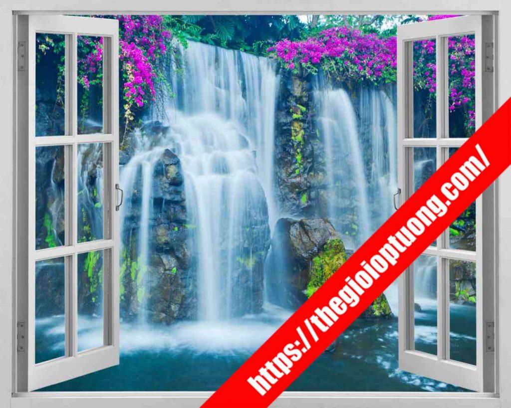TRANH TƯỜNG CỬA SỔ MÃ WN0067 . Tranh dán tường cửa sổ - Tranh tường 3D độc đáo