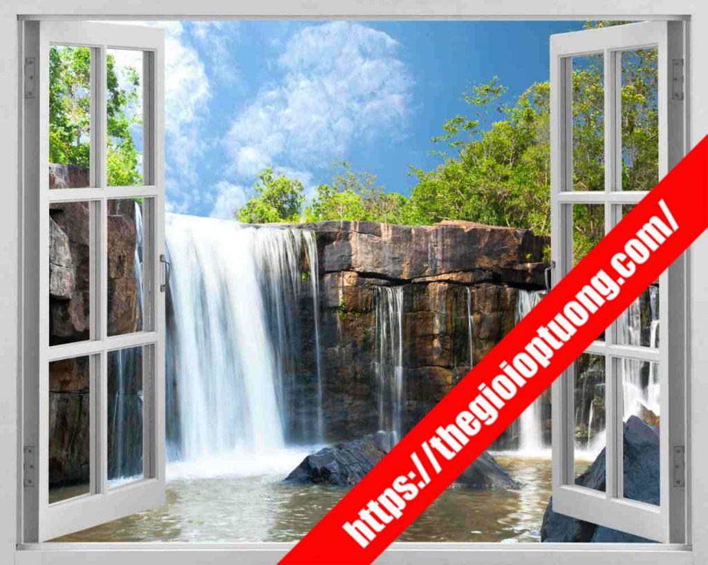 TRANH TƯỜNG CỬA SỔ MÃ WN0068 . Tranh dán tường cửa sổ - Tranh tường 3D độc đáo
