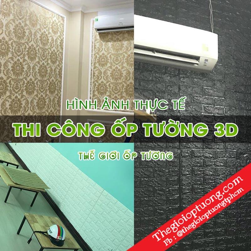 Thi công tấm ốp tường 3D [Hình ảnh thật tế] │Thế giới ốp tường