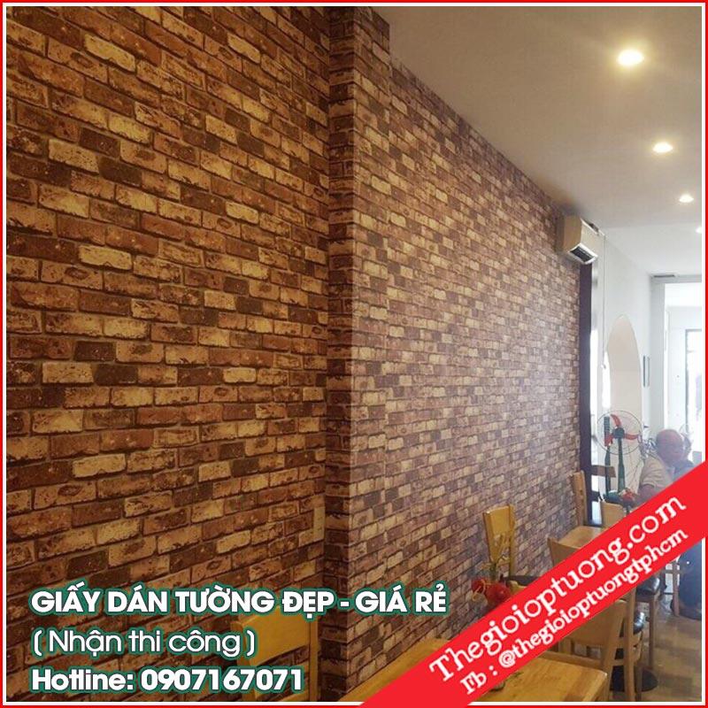 Mua giấy dán tường quán ăn - giấy dán tường đẹp tại quận 7 tphcm