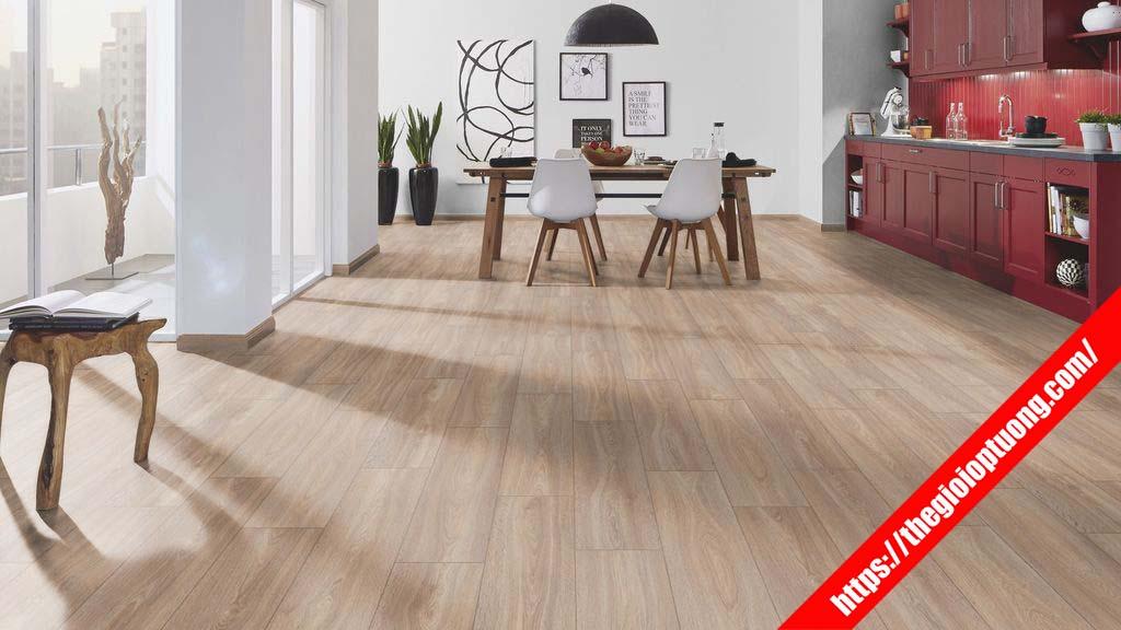 Nhận thi công sàn gỗ công nghiệp cao cấp đẹp như sàn gỗ tự nhiên