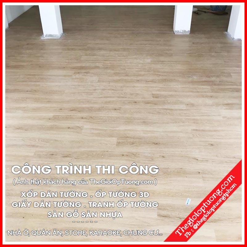 Nhận thi công sàn nhựa giả gỗ Hàn Quốc - sàn nhựa cao cấp giá rẻ