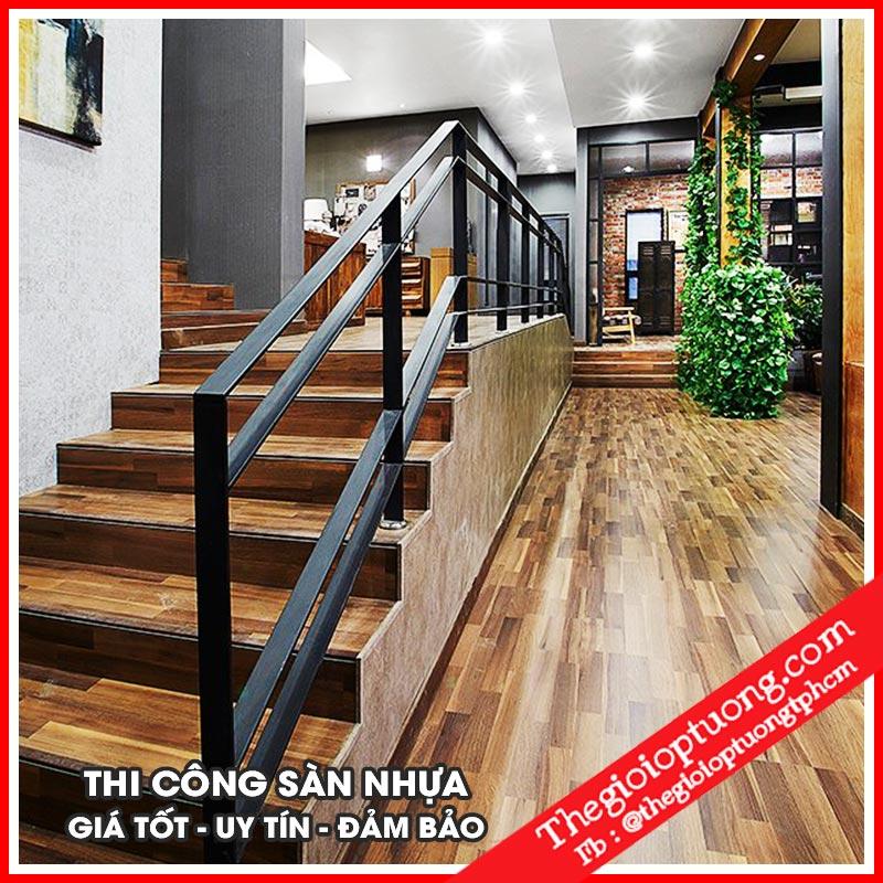 Thi công sàn nhựa giả gỗ giá rẻ tại TPHCM - sàn gỗ nhựa châu âu cao cấp