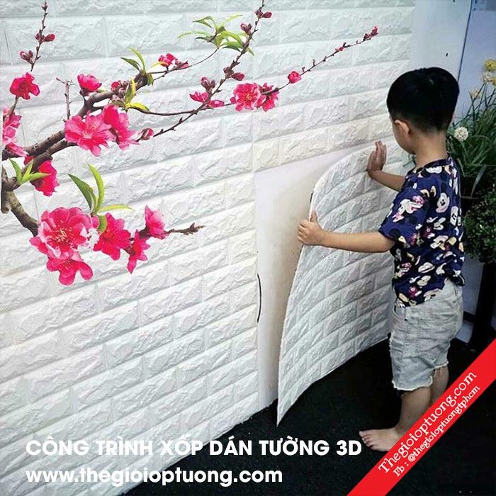 Xốp dán tường giá rẻ tphcm chỉ 39K/ tấm   Kho trang trí 3D