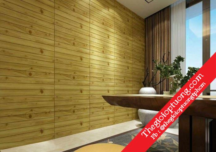 Xốp dán tường giả gỗ vân gỗ đẹp Kho xốp 3D giá sỉ - Thế giới ốp tường