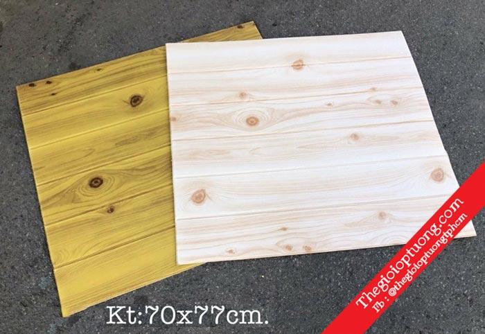 Xốp dán tường giả gỗ vân gỗ đẹp | Kho xốp 3D giá sỉ - Thế giới ốp tường