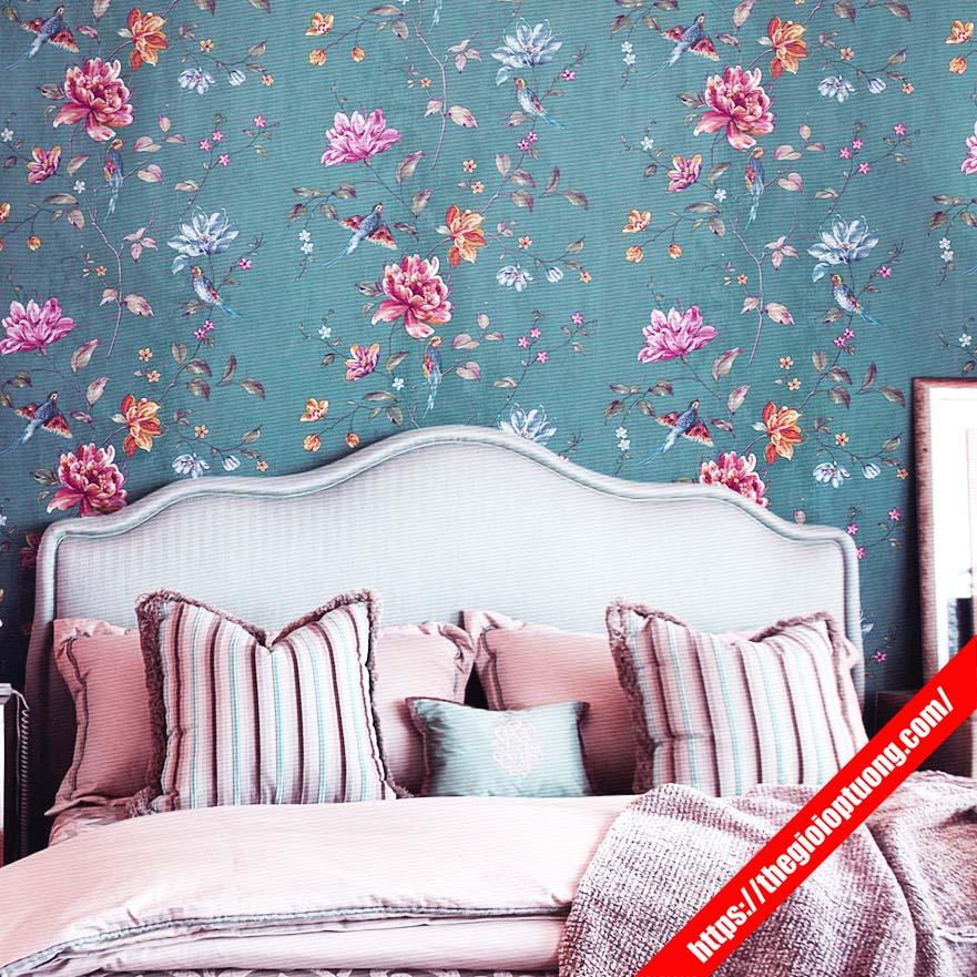Giấy dán tường 3d phòng ngủ | Mẫu giấy hoa văn, phong cảnh, giả gỗ