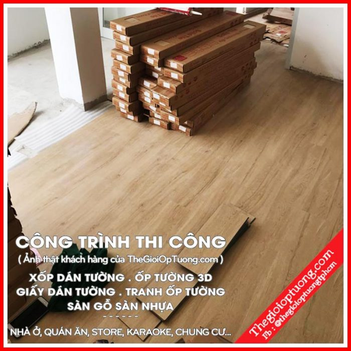 Sàn nhựa đẹp | Các mẫu sàn nhựa giả gỗ cho spa, gym, store