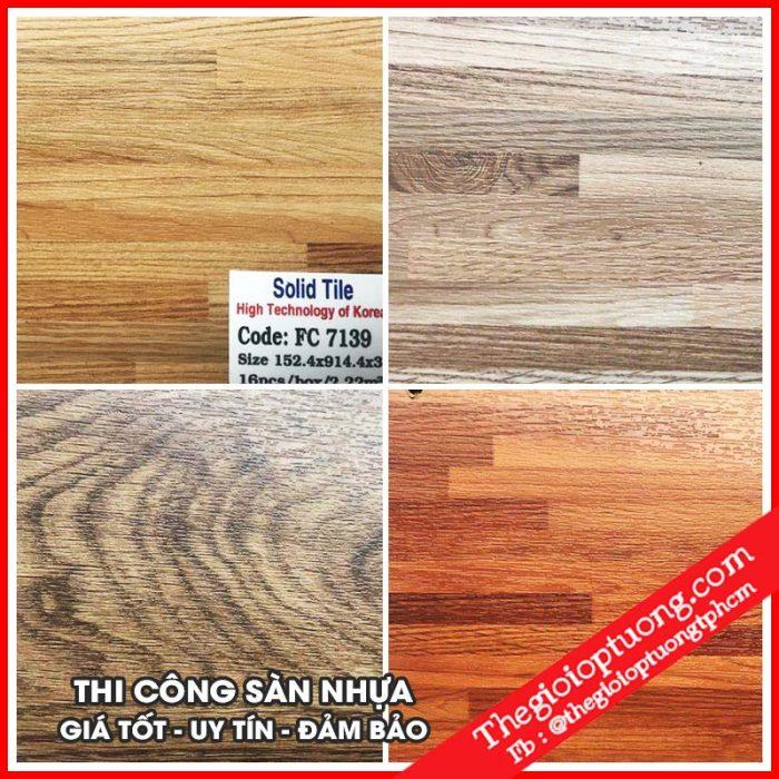 Sàn nhựa giả gỗ tphcm | Nhận thi công sàn nhựa gỗ giá rẻ, uy tín