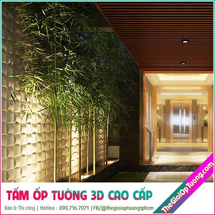 Thi công tấm ốp tường 3d đẹp cho chung cư cao cấp, nhà sang trọng