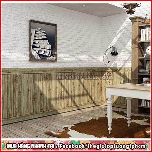 Shop bán giấy dán tường Củ Chi - Ốp tường giả gạch 3d