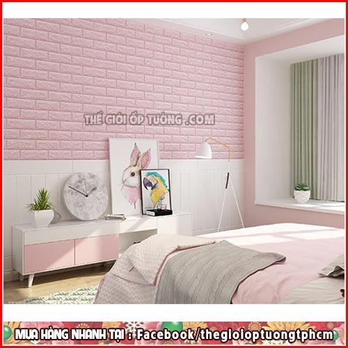 Trang trí nhà đẹp đơn giản với xốp dán tường 3D