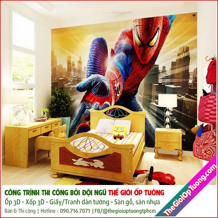 Tranh dán tường siêu anh hùng, Tranh tường hoạt hình 3D cho bé