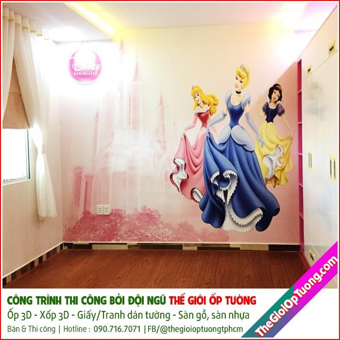 Thi công tranh dán tường khổ lớn cho quán cafe, spa, nhà ở