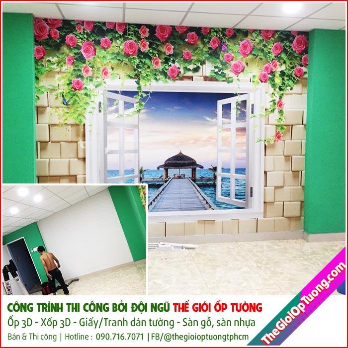 Tranh dán tường 3D Hàn Quốc cho nhà ở, cửa hàng, công trìnhTranh dán tường 3D Hàn Quốc cho nhà ở, cửa hàng, công trình