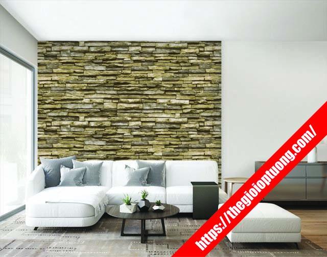 Tranh dán tường giả gạch , vân gạch 3D đẹp