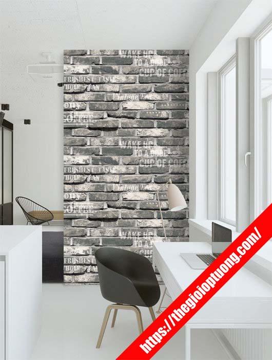 Cửa hàng giấy dán tường rẻ đẹp Tây Ninh - Xốp dán tường gạch