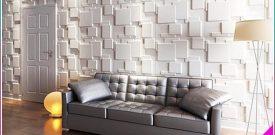 Trang trí phòng khách nhà phố đẹp với tấm ốp tường 3D