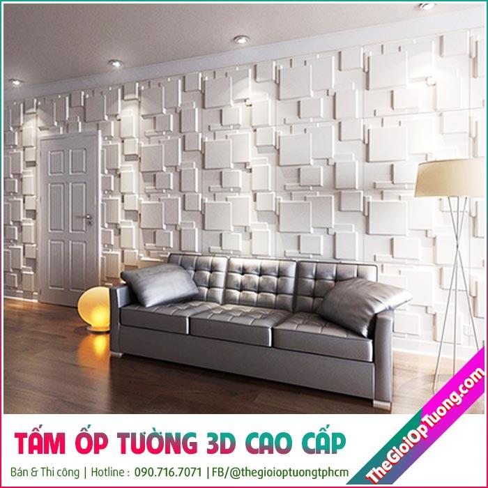 Ốp tường 3d phòng khách đẹp, mẫu ốp tường PVC cao cấp