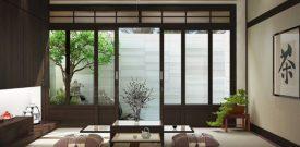 Trang trí nhà đẹp gỗ kiểu Nhật – Lát sàn gỗ, ốp tường 3D gỗ