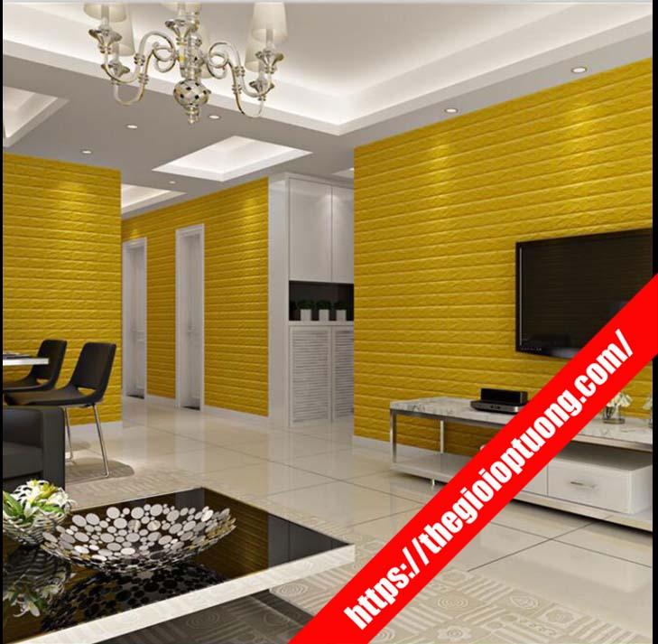 Xốp dán tường phòng khách, Xốp dán tường 3D đẹp mẫu mới nhất