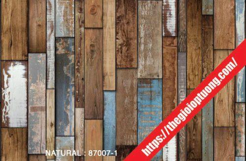 Giấy dán tường giả gạch - đá - gỗ [NATURAL 87007]