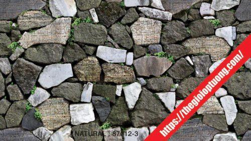 Giấy dán tường giả gạch - đá - gỗ [NATURAL 87012]