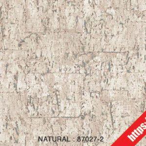 Giấy dán tường giả gạch - đá - gỗ [NATURAL 87027]