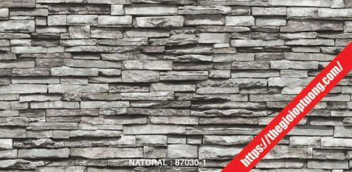 Giấy dán tường giả gạch - đá - gỗ [NATURAL 87030]