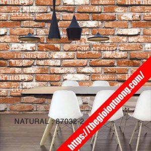 Giấy dán tường giả gạch - đá - gỗ [NATURAL 87032]