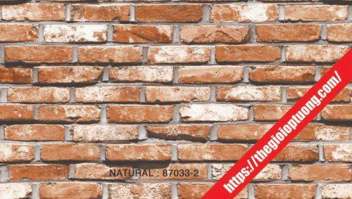 Giấy dán tường giả gạch - đá - gỗ [NATURAL 87033]