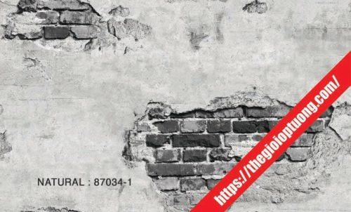 Giấy dán tường giả gạch - đá - gỗ [NATURAL 87034]