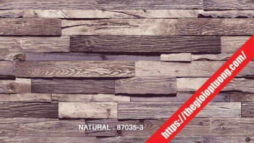 Giấy dán tường giả gạch - đá - gỗ [NATURAL 87035]