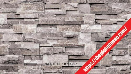 Giấy dán tường giả gạch - đá - gỗ [NATURAL 87038]