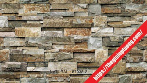Giấy dán tường giả gạch đá gỗ NATURAL » Thế giới ốp tường 3D. Giấy dán tường giả gạch - đá - gỗ [NATURAL 87038]