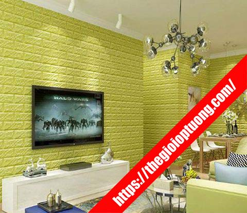 Cửa hàng giấy dán tường rẻ đẹp Phú Yên - Xốp dán tường gạch