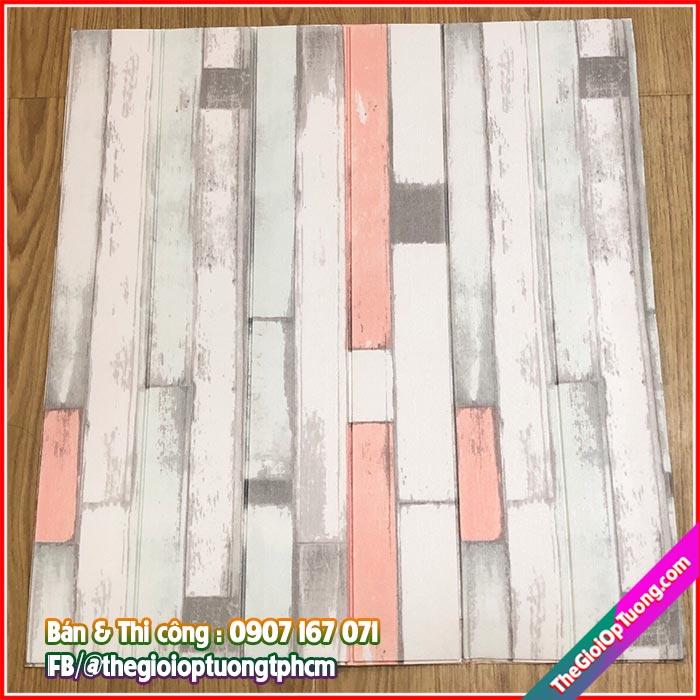 Tấm xốp dán tường giả gạch giả gỗ vintage