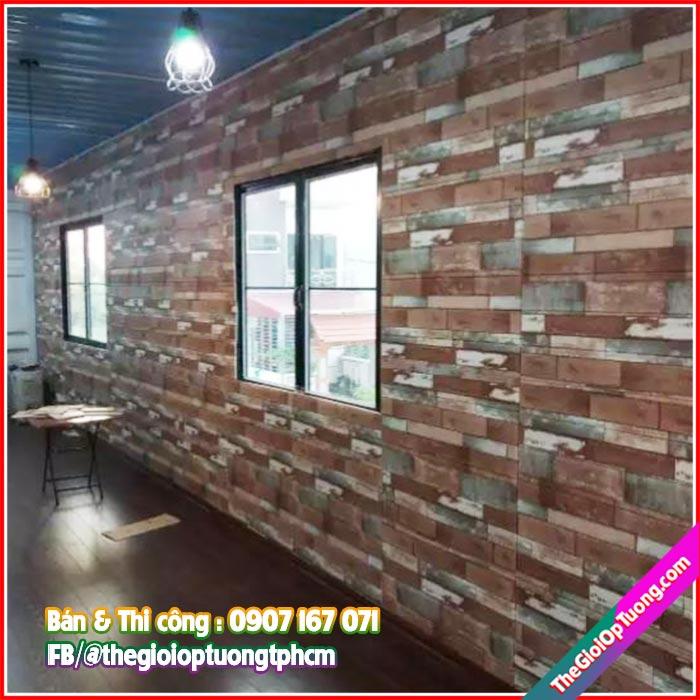 Tấm xốp dán tường giả gạch giả gỗ vintage, Tấm xốp dán tường giả gạch giả gỗ vintage Giá sỉ tại kho, cam kết chất lượng