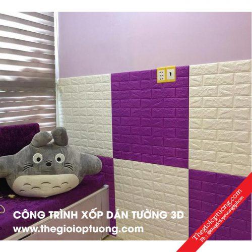 Thi công xốp dán tường 3d giá rẻ cho nhà ở, salon, spa...