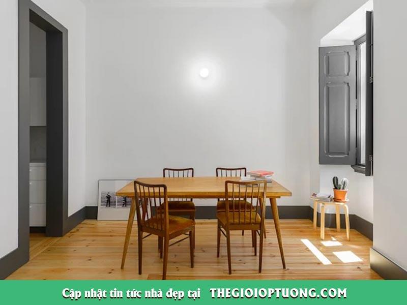 Thi công nội thất chung cư giá rẻ - Ốp tường, Lát sàn gỗ