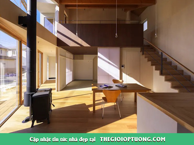 Mẫu nhà gỗ kiểu Nhật 2 tầng cho gia đình đẹp và tiện dụng
