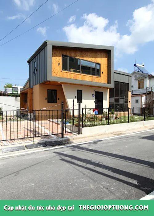 Thiết kế nhà 2 tầng đơn giản nhưng độc đáo từ trong ra ngoài