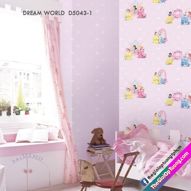 Giấy dán tường cho bé gái, bán và thi công giấy dán tường giá sỉ kho