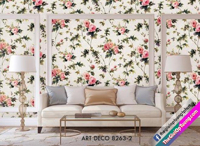 Giấy dán tường hoa lá thiên nhiên