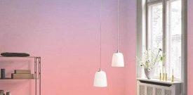 Phối hợp giấy dán tường đơn sắc cho không gian tinh tế
